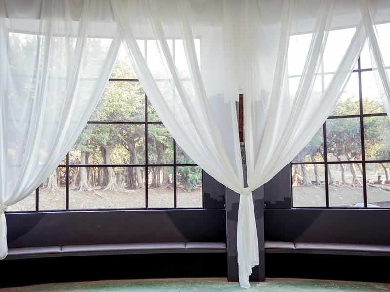 陽光窗景各種風格的婚紗窗景